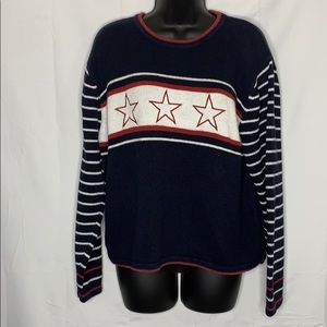Christopher & Banks slightly cropped Star sweater
